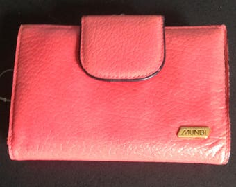 Vintage Mundi pink mini wallet with kiss lock coin purse