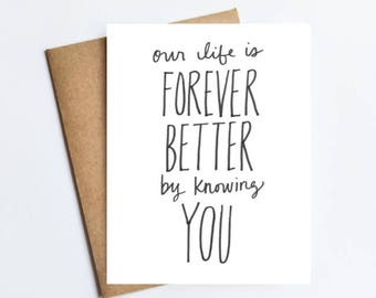 Forever Better - NOTECARD - FREE SHIPPING!