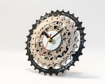 Metal Clock, Metal Wall Clock, Industrial Clock, Unique Bike Clock, Modern Clock, Metal Desk Clock, Metal Steampunk Clock, Bicycle Clock
