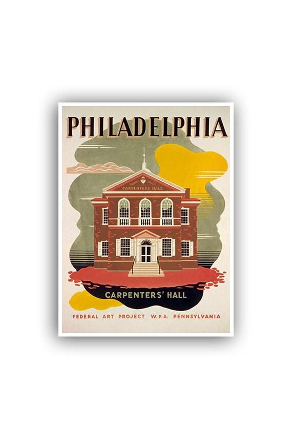 Philadelphia Art Print Travel Poster Retro Home Decor XR1000