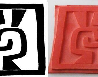 Design Stamp - African Symbol for Friendship - Handshake - Stamp for Pottery, PMC, Scrapbooking
