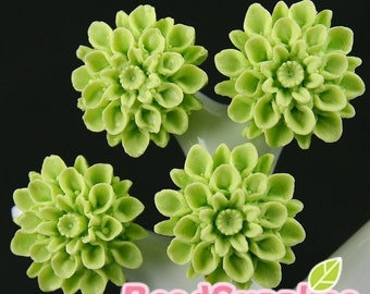 CA-CA-01556 - Lime chrysanthemum ,  6 pcs