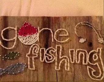 Fishing string art