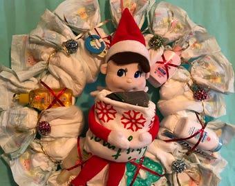 Elf on shelf Christmas Wreath