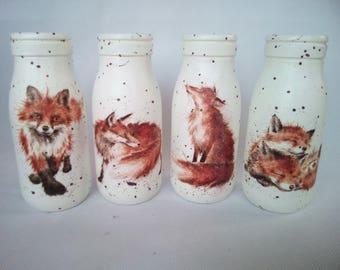 Small fox milk bottles