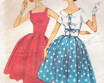 Bust 32-1950's Misses' Dress and Jacket McCall's 5365 Sz 12