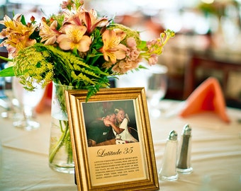 Personalized Table Numbers, table numbers, wedding table numbers, table number alternatives