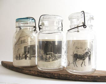 Vintage Glass Canning Jars Photo Display Storage Jar Ball Atlas