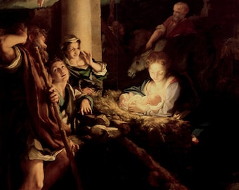 Correggio: The Holy Night. Fine Art Print/Poster. (001971)
