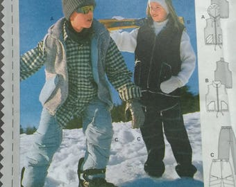 Burda Teen Snow Ski Pants Vest Pattern 2930