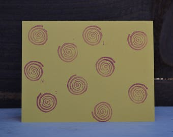 Spiral print cards with matching envelopes