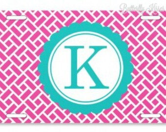 License Plate/Block Pattern/Personalized/Monogram/Express Yourself/Vibrant Colors/Great Gift Idea/Sweet 16/Stylish/Make it Yours/