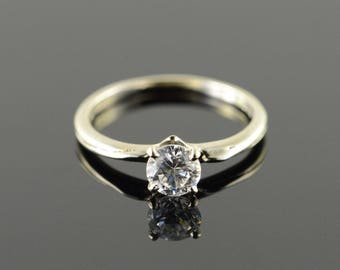 14k 0.50 Ct CZ Solitaire Ring Gold