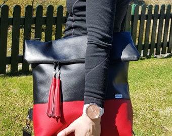 Crossbody bag, Everyday bag for woman, Travel crossbody bag, Fold over crossbody, Woman bag, Large crossbody bag, Shoulder bag, Bag for wife
