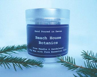 Pine Needle & Sandalwood Soy Wax Candle with Essential Oils-Tin 250ml