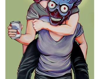 Cuties Attack! Art Print