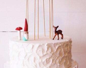 Pom Tree cake toppers