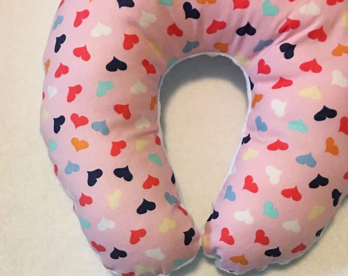 Hearts on Hearts on Hearts Travel Neck Pillow for Children and Adults