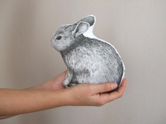 Bunny Pillow Rabbit Throw Pillow Soft Toy Plush Animal Shaped