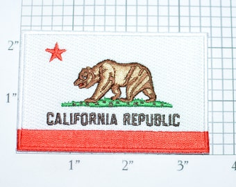 California Republic Iron-On Embroidered Clothing Patch for Jacket Shirt Vest Backpack Hat Travel Trip Souvenir Memento Gift Idea Flag vb1a