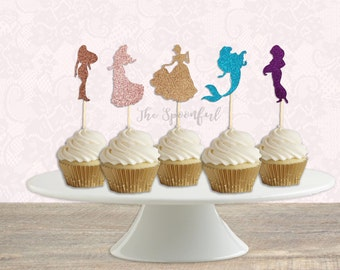 Disney Princess Cupcake Toppers Disney Princess Birthday