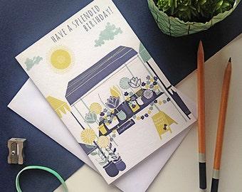 Amsterdam Birthday Card / Flower Market Birthday Card / Florist Card / Flowers Birthday Card / Floral Card / Tulip Birthday Card
