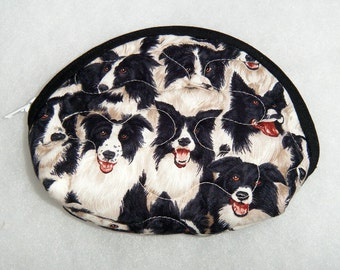Small Quilted Purse - Border Collies
