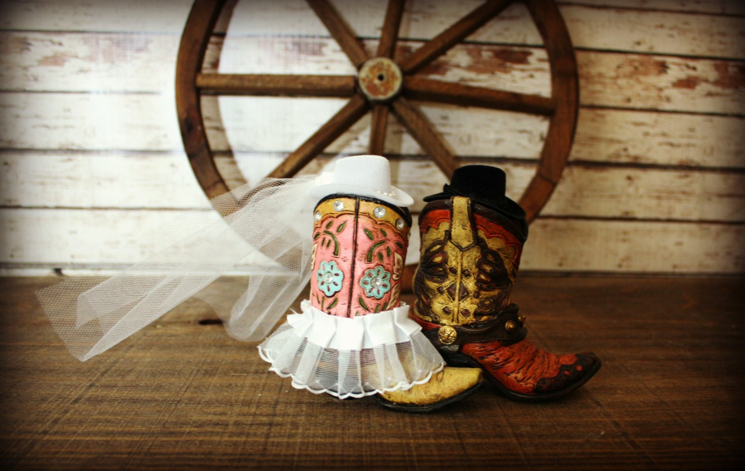 boot wedding cake topper cowboy boots wedding cake topper western themed 12096