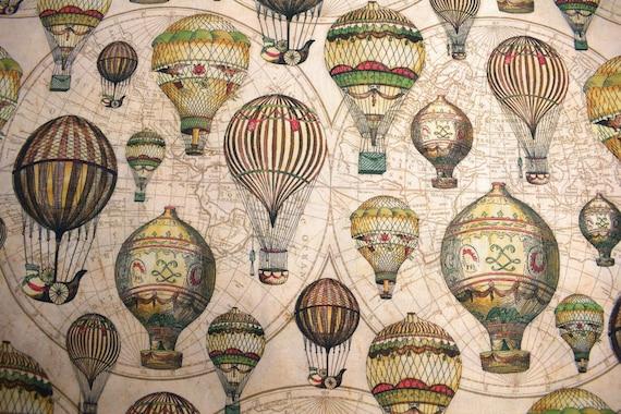 Hot Air Balloon Fabric Quilting Fabric Vintage Hot Air