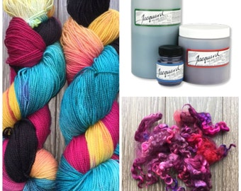 Jacquard Acid Dyes - 1/2 oz for dyeing wool, protein fibres used in felting and spinning - BUY 6 get 1 FREE