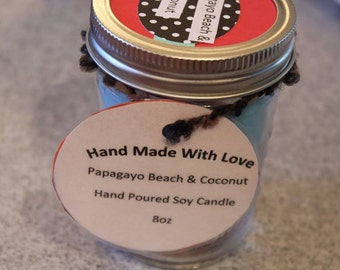 Two Layer Two Scented Candle,Mason Jar Candle, soy wax candle, eco friendly, gift idea, choose your scent, hand poured, two layer candle