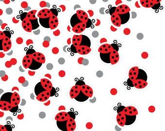Ladybug Confetti - Ladybug First Birthday - Ladybug Baby Shower - Butterly Party - Bug Party Supplies - Lady Bug Confetti - Party Decoration