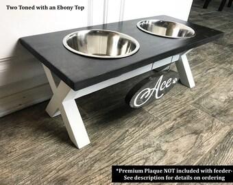Farmhouse X-Style Raised Dog Feeder X Legs Raised Dog Bowl Stand Elevated Dog Bowl Pet Bowl Feeding Stand Elevated Dog Bowls