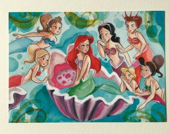 Ariel and sisters PRINT