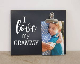 PERSONALIZED Gift For Grandma, Mother's Day Gift Idea {I LoVE MY GRAMS} Custom Picture Frame, Personalized Photo Frame, Grandma Gift