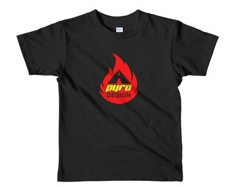 Toddler A Pyro Design Flame Logo Tee