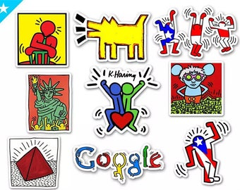 Pop Art New York 80s keith haring style stickers set stickers pack graffiti like