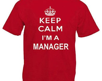 Keep calm manager adults mens t shirt 12 colours size s - 3xl