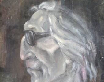 Vintage portrait oil painting expressionism