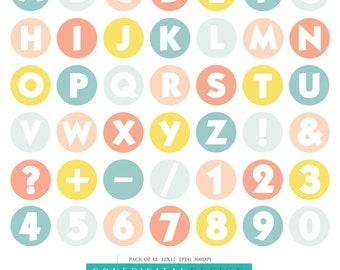 Spring Digital Alphabet Spring Printable Letter Spring Clipart Printable Spring Planner Sticker Spring Scrapbook Alphabet Spring Design Art