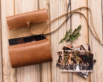 "15 PACK Leather Print Wrap | Leather Photo Wallet Case l client gift for wedding photographers | for 4x6"" or 5x7"" photos"