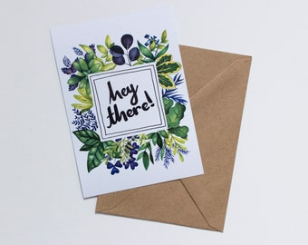 Hey There - Blank Greetings Card