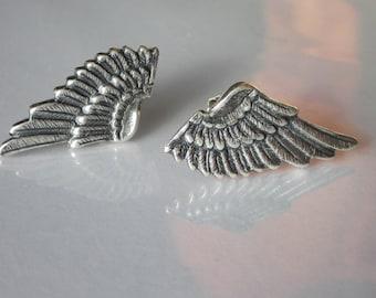 Wing Earrings, Small Earrings, Wing Stud, Angel Wing Post, Unisex Jewelry, Angel Wing Stud Earrings, Mens Jewelry, Angel Wing Earrings
