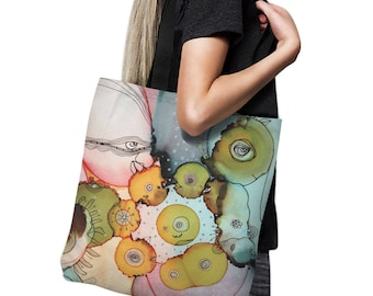 Colorful Abstract Art Baby Diaper Bag Tote Bag tote bag art beach bag original artist tote abstract computer bag art gym bag school bag art