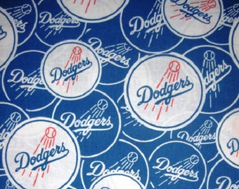MLB Los Angeles Dodgers 100%Cotton v2 Fabric by the yard (IST4)