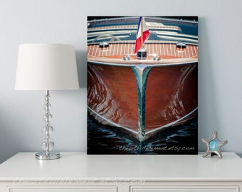 GET 20% OFF TODAY! Nautical art, Wooden boat, Boats, Beach decor, Chris Craft, Coastal art, Lake house decor / Wood Boat Bow Vertical