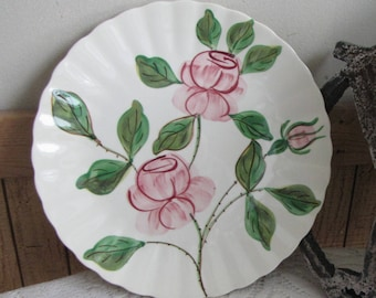Southern Pottery Blue Ridge Paper Rose Pattern Vintage Farmhouse and Rustic Home Décor