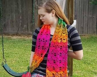 Preppy Celestia Scarf Crochet Pattern