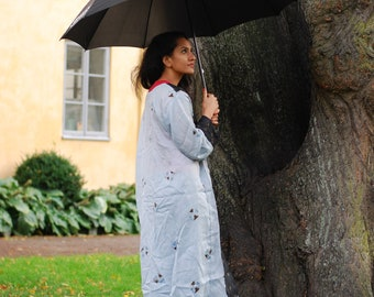 Gray Saree Kimono   Cardigan, kaftan, summer,spring,holiday,bohemian,jacket, maternity,conscious,fashion,cardigan,formal,casual,recycle