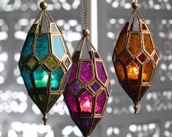 Moroccan Hanging Glass Lantern